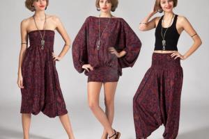 Conjunto 3 en 1, Pantalón, Vestido y Top