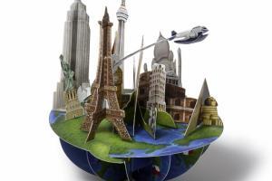 Postal en 3D, viajes