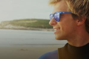 Gafas de ecosilicona de Parafina, montura azul