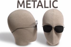 Gafas de montura metálica y cristal plano de Parafina