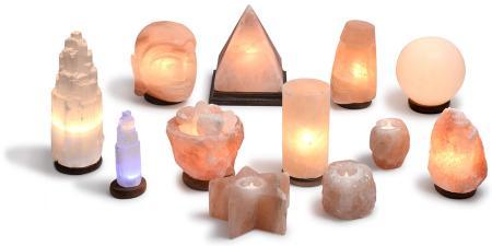 Lámparas de Sal del Himalaya y de Selenita